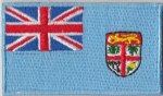 Fiji Embroidered Flag Patch, style 04